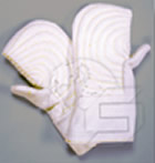 Steel reinforced mitts