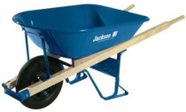 5 Cubic Foot Jackson Steel Contractor Wheelbarrow with ball bearing