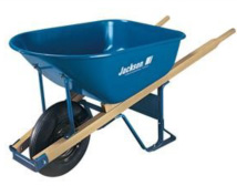 6 Cubic Foot Steel Contractor Wheelbarrow with Ball Bearings
