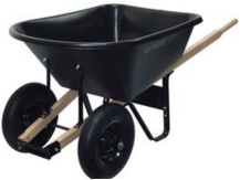 6 Cubic Foot Poly Dual Wheel Wheelbarrow